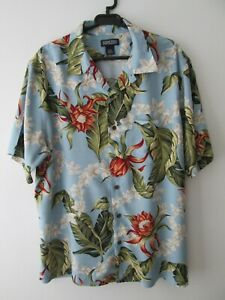 VINTAGE-LANDS-END-Isola-Tropicale-Camicia-Hawaiana-50-034-127cm-L-940H