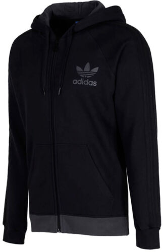 Adidas Originals New Men/'s SPO Trefoil Fleece Full Zip Hooded hoodie