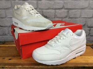NIKE-LADIES-AIR-MAX-1-WHITE-SUEDE-MESH-TRAINERS-VARIOUS-SIZES-RRP-100-T