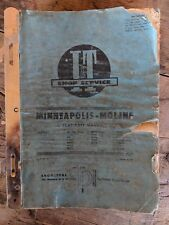 Vintage Implement Tractor Manual Oliver Cockshutt Minneapolis Moline White Misc