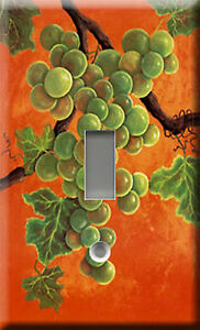 WHITE-WINE-GRAPES-SINGLE-LIGHT-SWITCH-PLATE-COVER