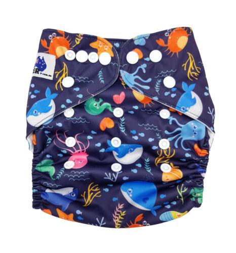 FREE insert Reusable Modern Cloth Nappy MCN Deep Sea