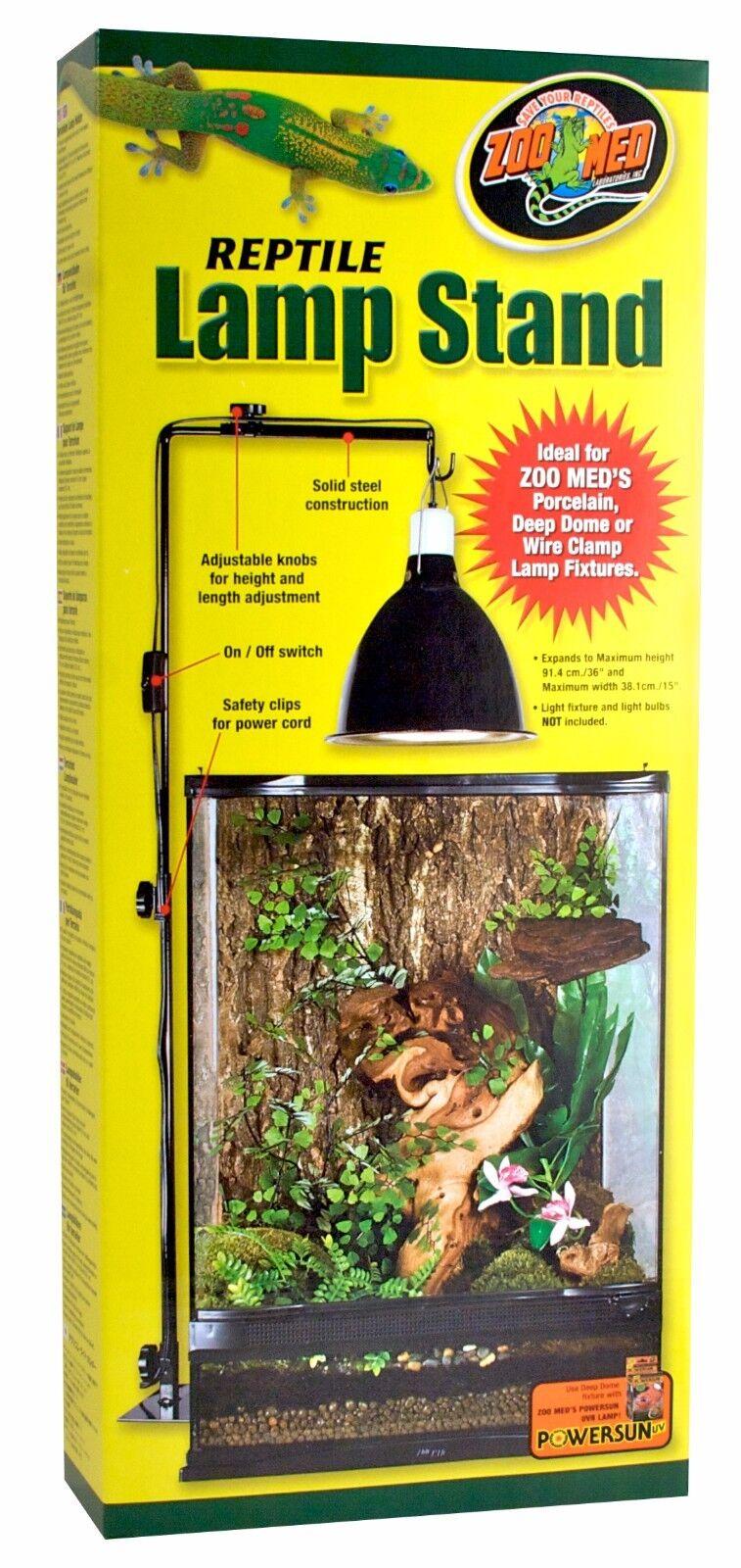 ZooMed Repti Lamp Stand 90 cm cm cm groß Terrarium Reptilien verstellbar Lampenhalter 6366c7