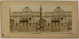 Palais Da Justice Parigi Francia Foto Stereo Vintage Albumina c1860