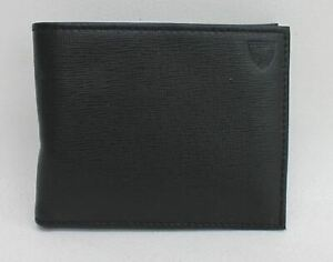 ASPINAL-OF-LONDON-Men-039-s-Black-Saffiano-Billfold-Leather-Wallet-Embossed-RBK-NEW