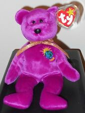 Ty Beanie Baby RARE Millennium Bear MINT w/ TAG ERRORS 1999 Millenium No Stamp