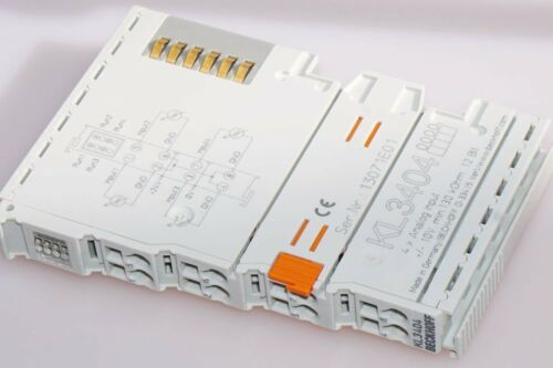 BECKHOFF KL3404 4-K 10..+10V 12Bit 2-L., Analog-Eingangsklemme