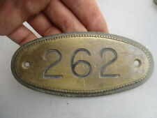 Vintage Brass House Number Plaque Room Sign Beading Architectural Antique  262