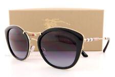 0d869bb970bb Burberry Sunglasses Black Cateye Be 4251q 3001 8g Gradient Gray Lens for  sale online