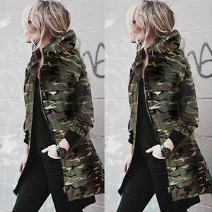 Winter-Women-Warm-Collar-Hooded-Long-Coat-Jacket-Denim-Trench-Parka-Outwear-Lot