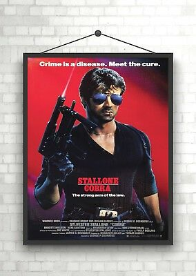 Cobra Stallone Vintage Classic Large Movie Poster Print A0 A1 A2 A3 A4