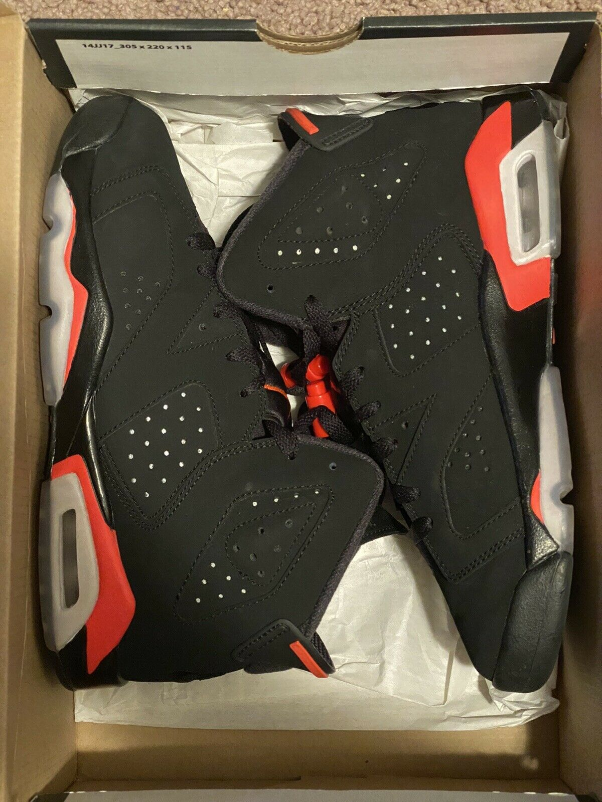 Jordan 6 Retro BT Size 5c Black