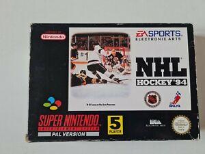 NHL Hockey 94 Juego Completo En Caja Completo Raro