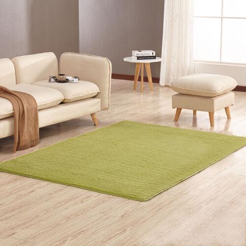 Short Fur Shaggy Area Rug Living Room Bedroom Carpet Hallway Non Shed Pile Home