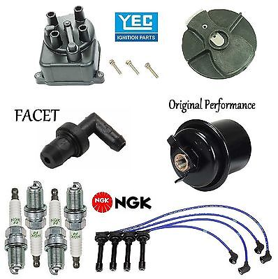 Tune Up Kit Filters Cap Rotor Wires /& Plugs for Honda CR-V 2.0L; B20B4 Engine 98