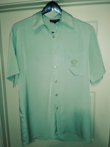 VERSACE Jeans Couture Men's Short Sleeve Mint Gree
