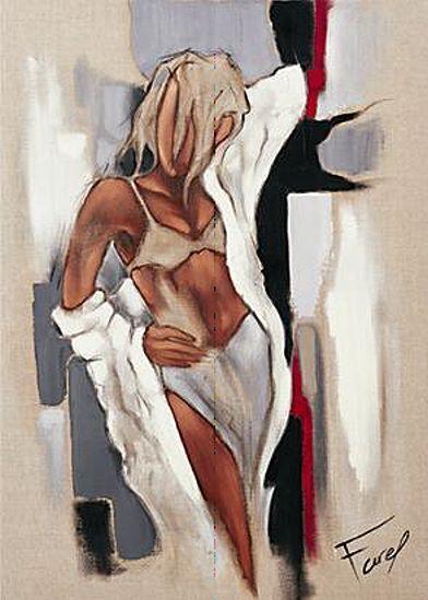 Pierre FAREL   Elle tableau prêt 50x70 Tableau mural fille bikini BAIN