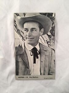 Guy-Madison-Vintage-1959-NU-Card-118-TV-Western-Photo-Exhibit-Card-Arcade