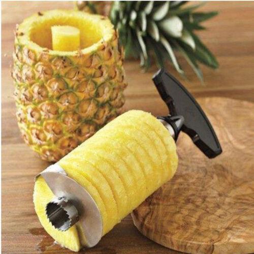 Stainless Steel Pineapple Easy Peeler Cutter Kitchen Fruit Corer Slicer Gadget