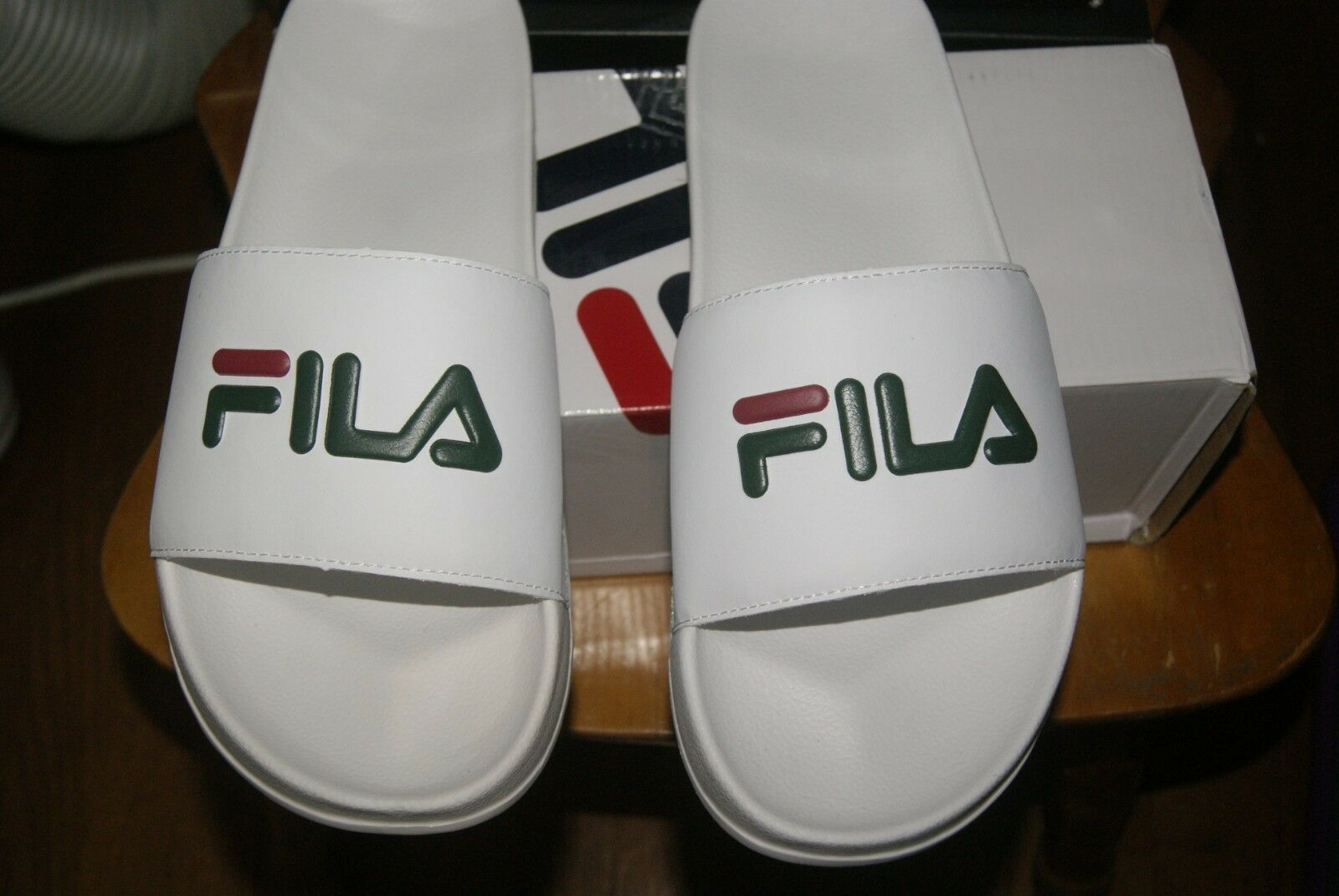 Sandals 11 White Fila 12 Flip Slides Or Mens Drifter Flops nwmN80