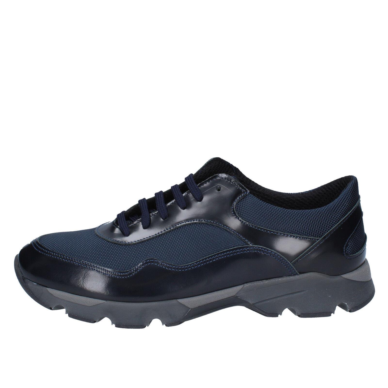 Scarpe casual da uomo  Scarpe uomo Baldinini 43 Sneakers Blu Tessile Pelle by538-43