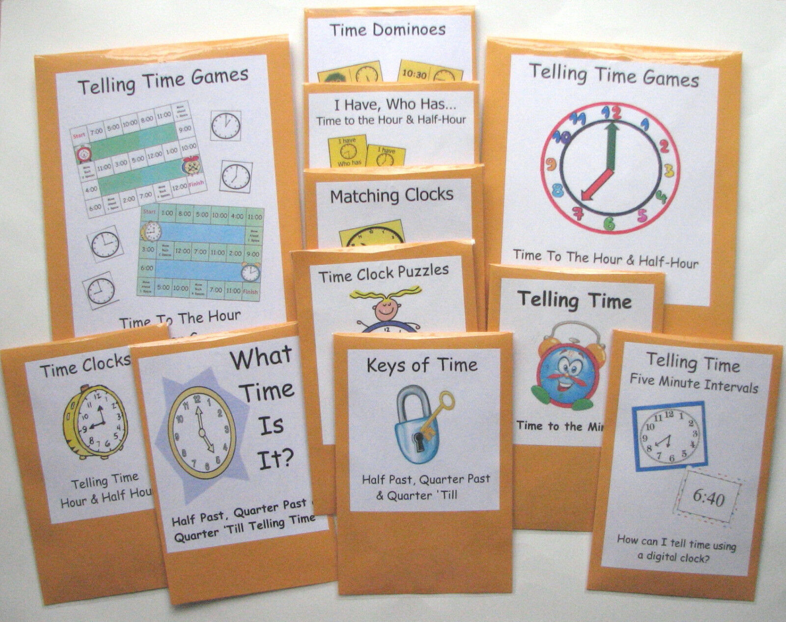 11 Teacher Made Math Centers Learning Resource Games Telling Time