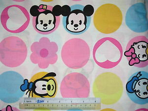 Choose-design-Disney-Mickey-Mouse-cotton-quilting-fabric-choose-size