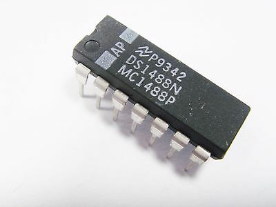 2 X MC1488 oder SN75188 Quadruple Sender Zeile RS232 MC1488