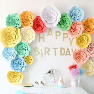 Image Is Loading 40cm Giant Paper Flowers Backdrop Birthday Background Wall