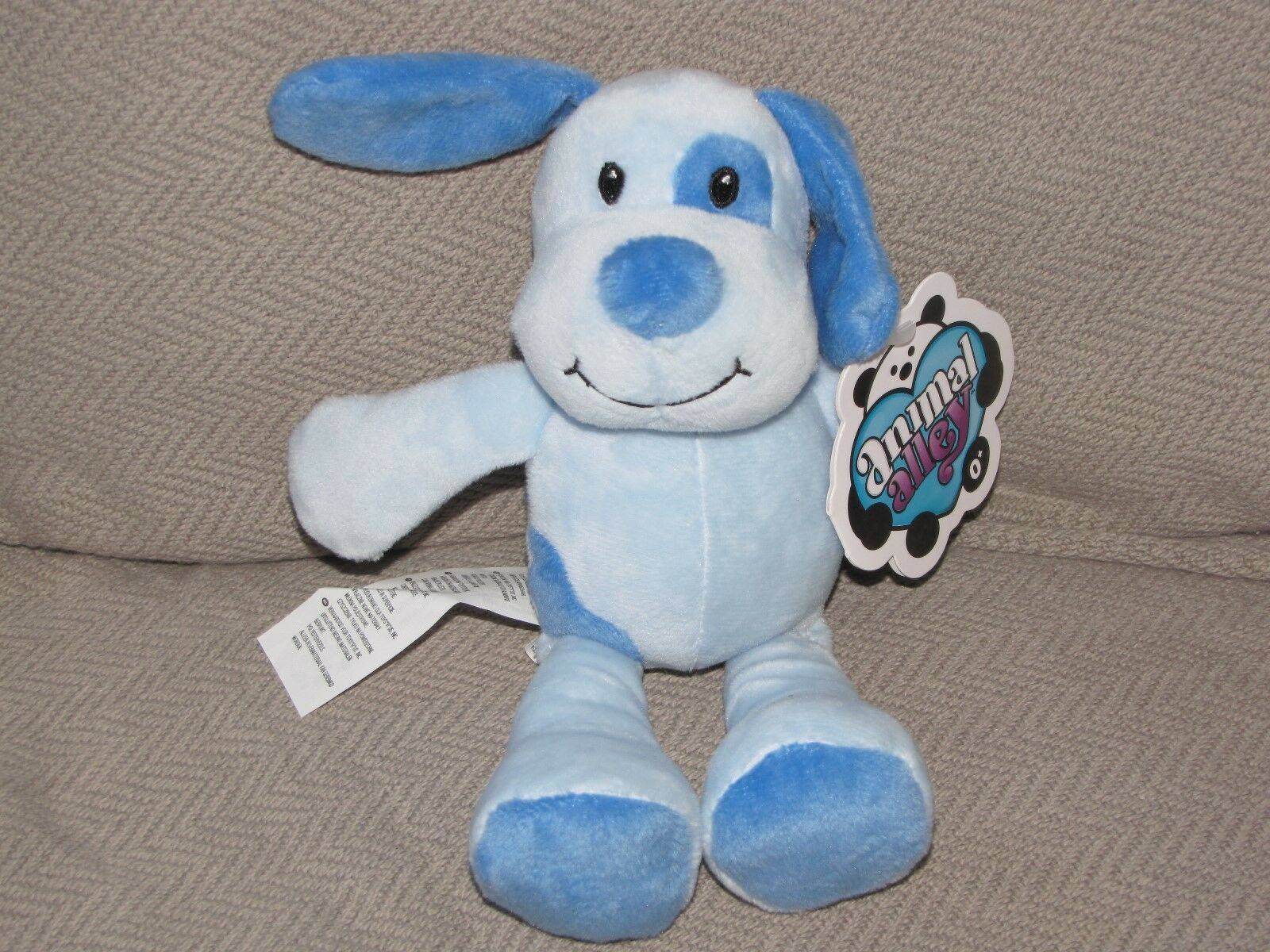 ANIMAL ALLEY TOYS R US STUFFED PLUSH Blau PUPPY DOG RATTLE BABY TOY 5