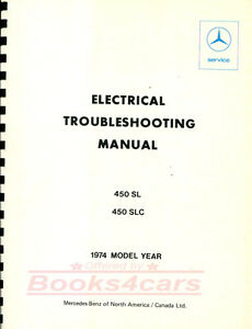 450sl electrical manual repair shop wiring diagrams mercedes service rh ebay ie