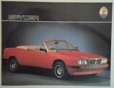 MASERATI BITURBO SPYDER orig 1980s UK Mkt Sales Leaflet Brochure in English