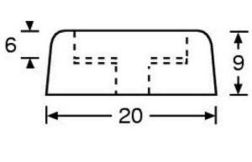 16 Gummifüße 20 x 9 stahlverstärkt Gummifuß Gerätefüße Möbelfüße Adam Hall 4903