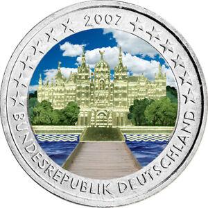 2-Euro-Gedenkmuenze-BRD-Deutschland-2007-Schwerin-coloriert-Farbe-Farbmuenze