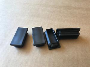 "1/""x2/"" Tubing Plastic Plug End Cap Rectangular Rectangle 2x1 1x2 Tube 4 Pack"