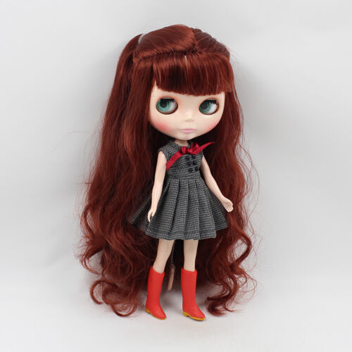 """12/"""" Neo Blythe Doll From Factory Doll Reddish Brown Hair With Bang"""