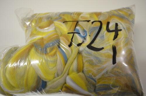Filzwolle im Kammzug 100/% Merino bunt 400 gr zum Filzen /& Spinnen 45€//Kg Pos F24