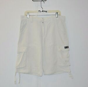 Vintage-THE-HUNDREDS-6-Pocket-Linen-amp-Cotton-Shorts-sz-34-USED