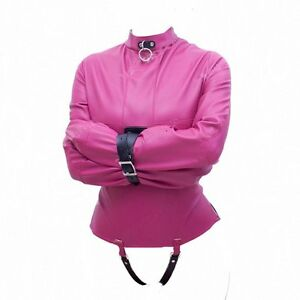 New design PINK leather straight jackets, goth, sissy, corset | eBay