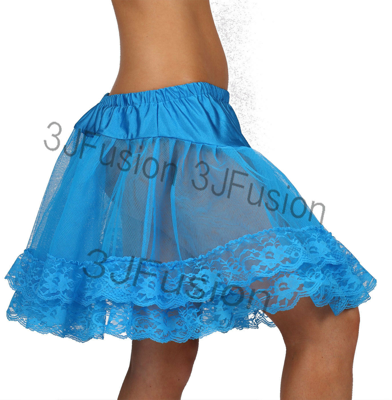 Ladies Glamour 2 Layer BLUE TUTU SKIRTS FANCY DRESS HEN PARTY FREE POST AE