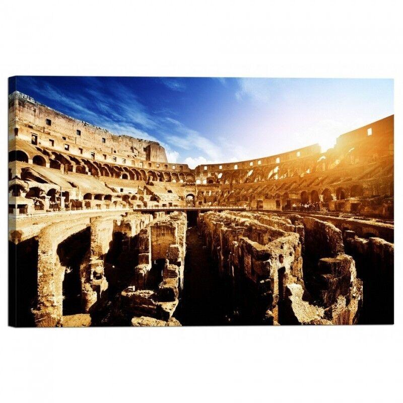Quadro Quadro Quadro Stampa su Tela con Telaio Colosseo a Roma 309c79