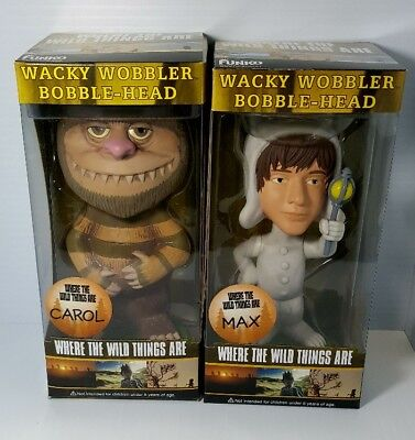 "WHERE THE WILD THINGS ARE 4 Funko 7/"" Wacky Wobbler // Bobble-Head Figure Set"