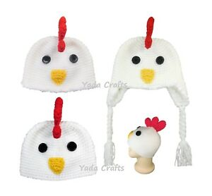 Image is loading Crochet-newborn-Chicken-hat-baby-hat-Rooster-Thanksgiving- 2e0b2a6e473