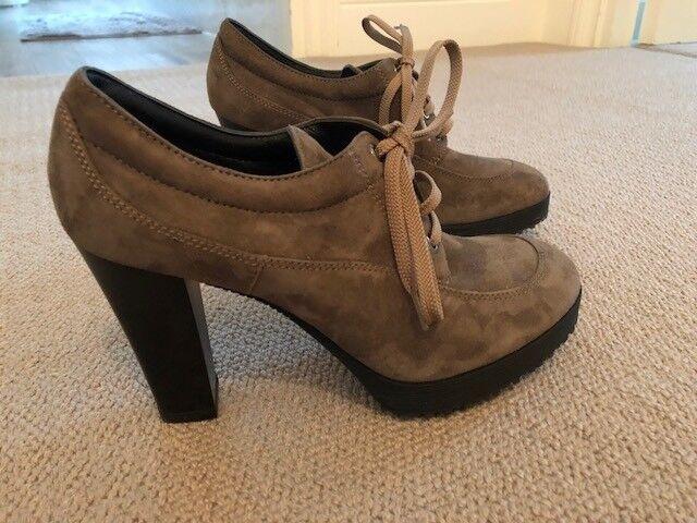Hogan Zapatos para mujeres ante de imitación de color color de marrón Excelente Estado bdf89c
