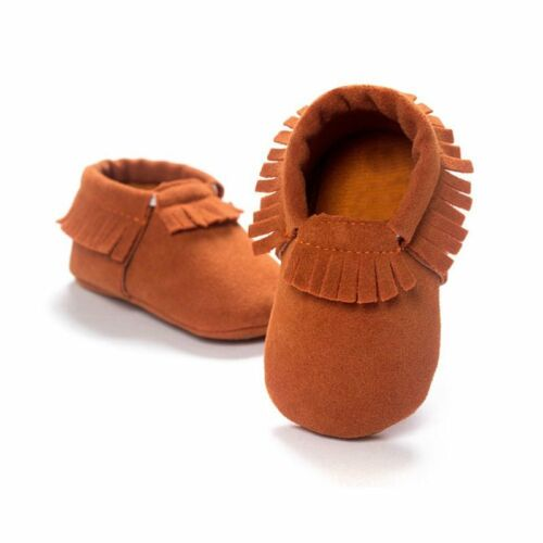 Toddler Baby Girl Boy Crib Shoes Infant Moccasin Kid Soft Soled PU Leather Shoes
