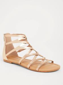 Torrid Rose Gold Gladiator Sandal Wide Wide Sandal Width Sz: 9 69626c