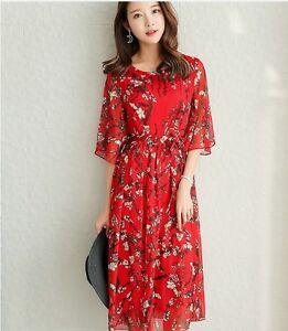 Image Is Loading Sweet Short Trumpet Sleeve Korean Style Slim Knee