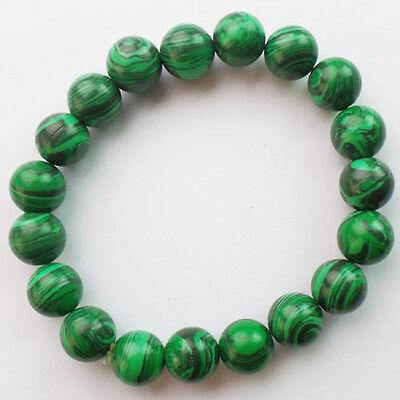 10mm Mixed Gemstone Round Bead stretchy Bracelet 7.5 inch