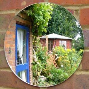 Jardin Ronde Miroirs-Incassable Sécurité acrylique-plusieurs tailles