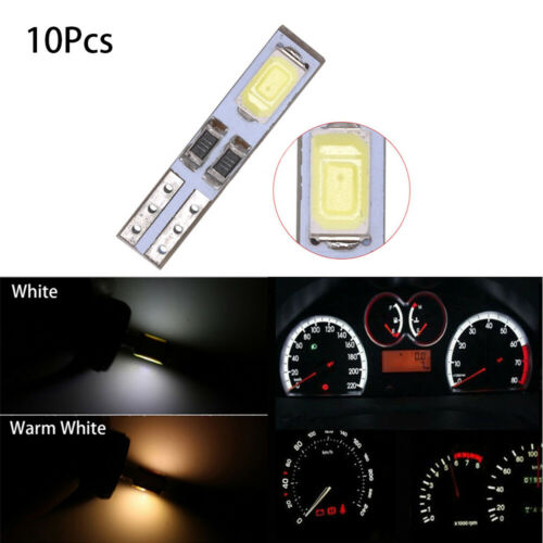 10Pcs T5 12V 5730 LED Dashboard Gauge Light Car Signal bulbs Cluster Dash Lamp~